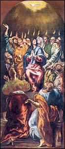 Pentecost - El Greco Painting