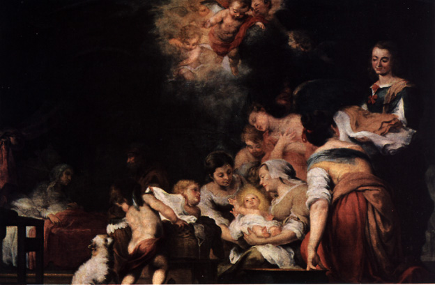 The Birth of the Virgin Mary - Esteban Murillo (Louvre, Paris)
