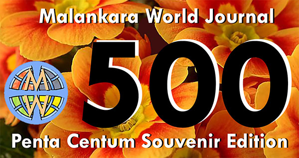 Issue 500 Souvenir Edition ICON Designed by Dr. Jacob Mathew, Chief Editor of Malankara World