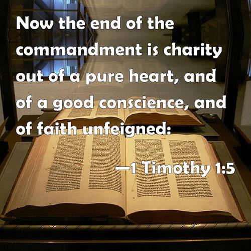 1 Timothy 1:5