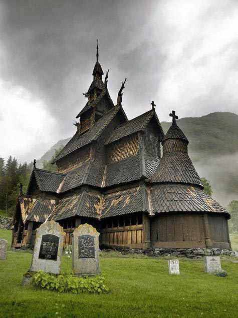 12th century wooden church in Norway