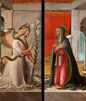 Annunciation to Mary by Jacopo Da Montagnana