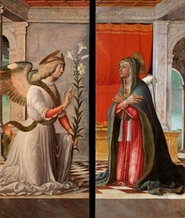 Annunciation to Mary by Jacopo Da Montagnana