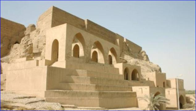 The Assyrian Green Church in Tikrit, Iraq, built in the 7th century, which was destroyed by ISIS
