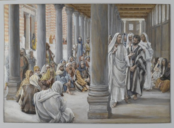 Jesus Walks in the Portico of Solomon  by James Tissot. 1886-1896 Brooklyn Museum