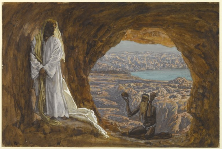 Jesus Tempted in the Wilderness by James Tissot (Brooklyn Museum)