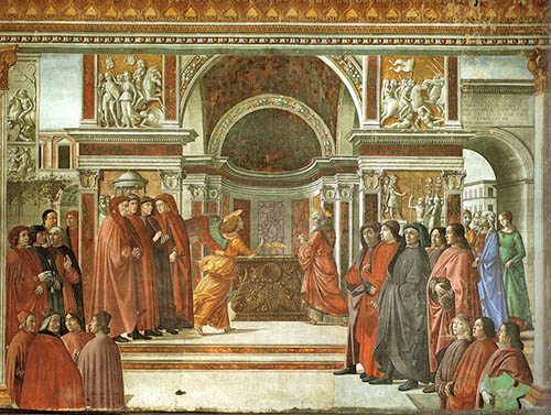 Annunciation of the Angel to Zechariah by Domenico Ghirlandaio