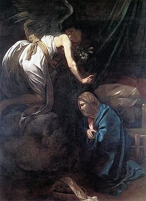 Annunciation to Mary by Caravaggio