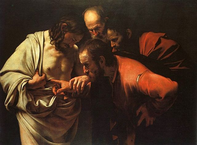 Caravaggio, The Incredulity of Saint Thomas, 1601