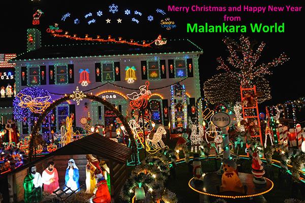 Happy New Year. Lighting from Crownpoint Ave., Strongsville, Ohio, (c) Dr. Jacob Mathew, Malankara World.
