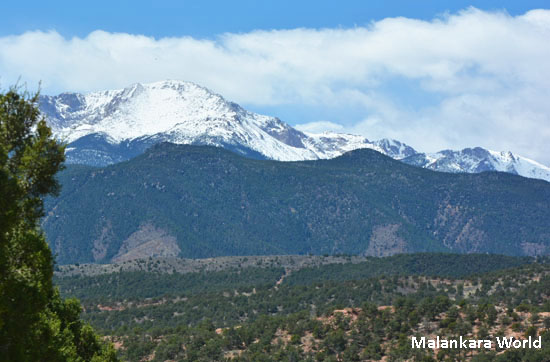 Cheyenne Mountains, CO viewd from Garden of Gods, Colorado Springs. Photo by Dr. Jacob Mathew