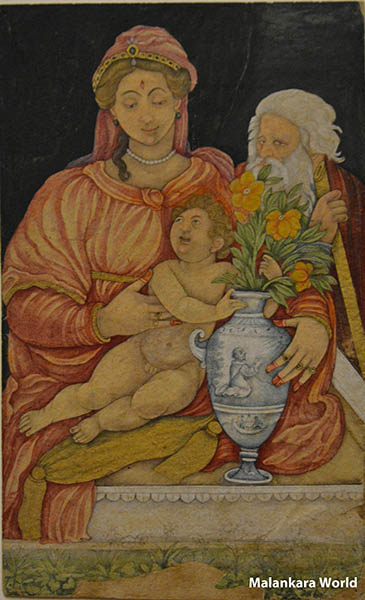 The Holy Family, about 1620, Mughal India, Cleveland Museum of Art, photo by Dr. Jacob Mathew, MW