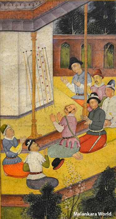 Flowering of Joseph's Rod Mughal India Watercolor, Cleveland Museum of Art. Photo by Dr. Jacob Mathew, Malankara World