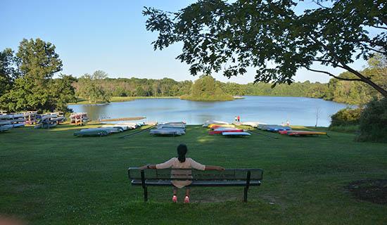 Relaxing in Hudson Springs Park