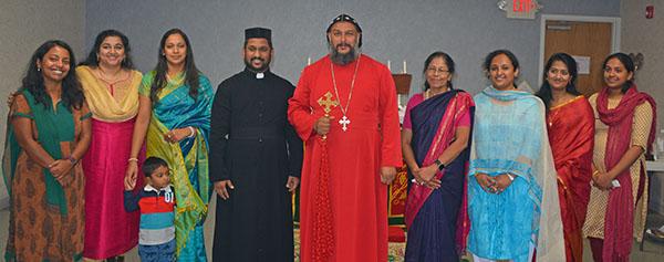 Theethose Thirumeni in St. Basil's Syriac Orthodox Church, Cleveland, November 2017