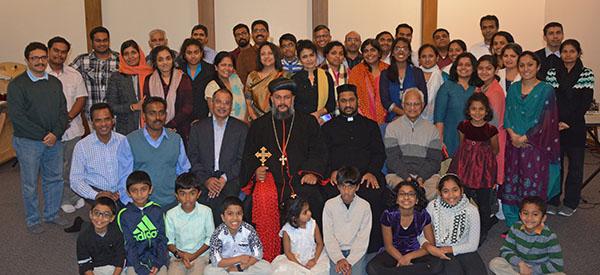 Theethose Thirumeni with the faithful at Columbus, Ohio - November 2017
