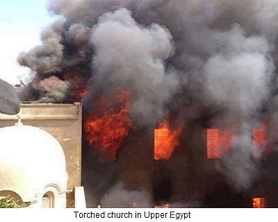 Torched Church in Upper Egypt