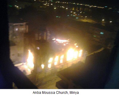 Anba Mousa Church in Egypt in flames