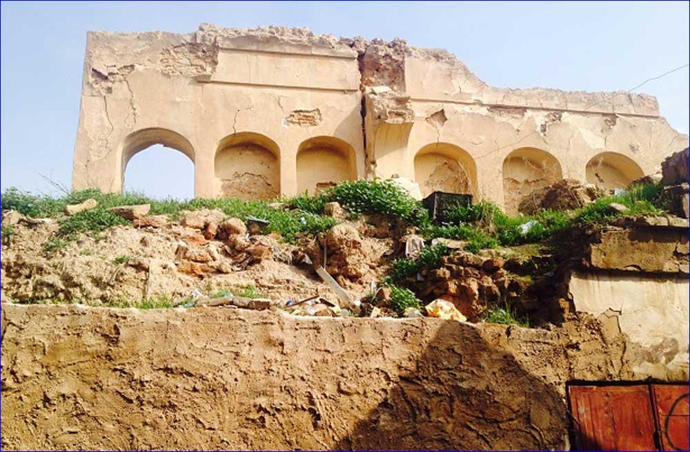 Destroyed Assyrian Green Church in Tirkit, Iraq
