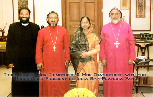 Themotheos Thirumeni visiting President of India