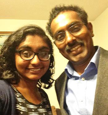 Nitya with her dad Dr. Jaob Naduparambil