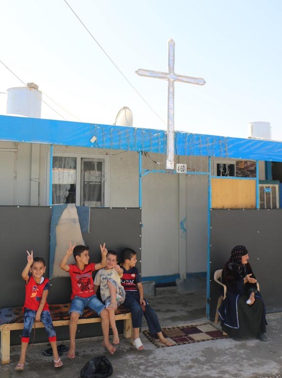 Refugeees in Asti 2 camp in Erbil, Iraq