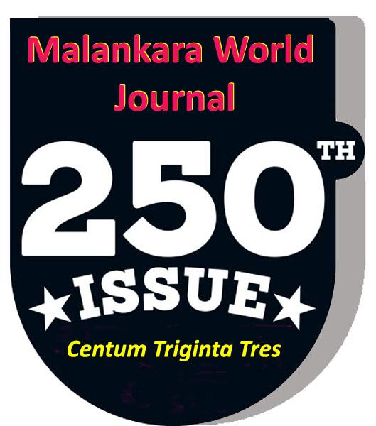 Centum Triginta Tress (250th) Issue of Malankara World Journal