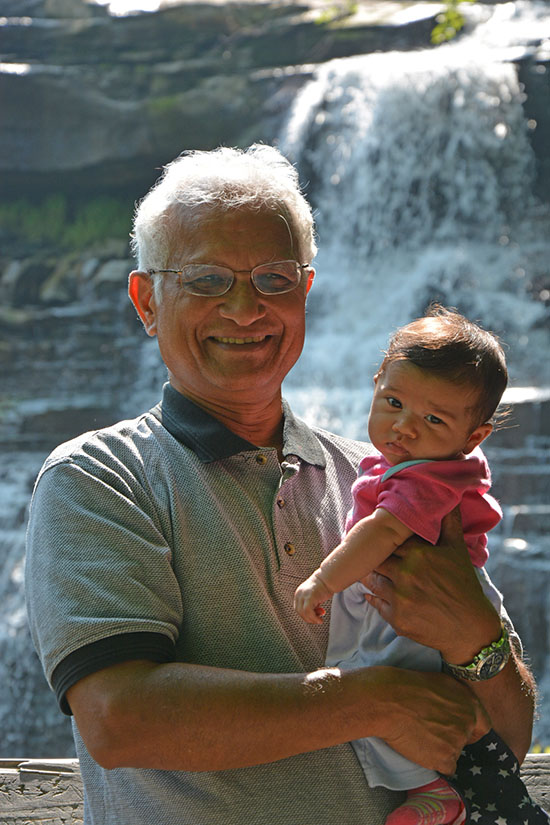 Dr. Jacob Mathew with Maia - August 2014
