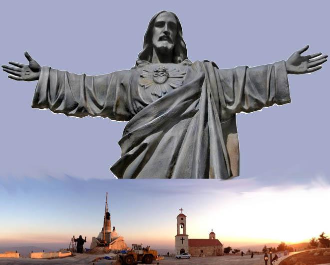 Giant Jesus Statue in Syria - Nov 2013