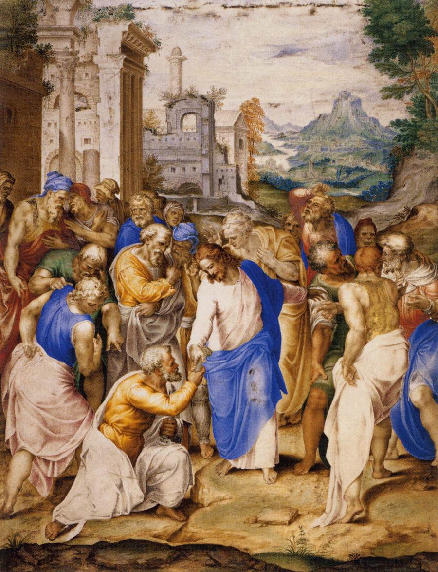 Jesus Giving Keys of Kingdom to Peter. Painting by Peter Castello, 1598