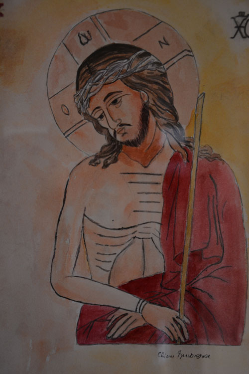 Jesus, Painting by Mrs. Chinnu Geevarghese, Louisvills, KY copyrighted