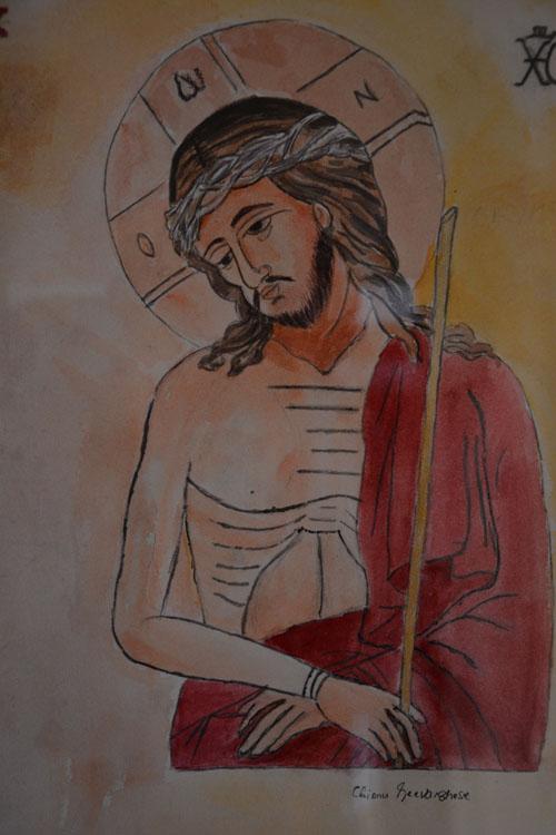Jesus, Painting by Mrs. Chinnu Geevarghese, Louisvills, KY copyrighted
