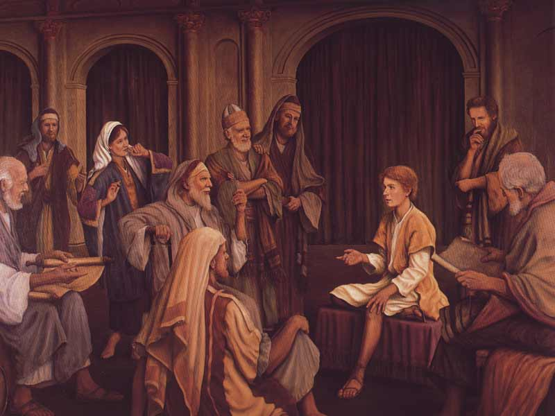 Jesus Talking to Elders and Doctors of Theology in Temple