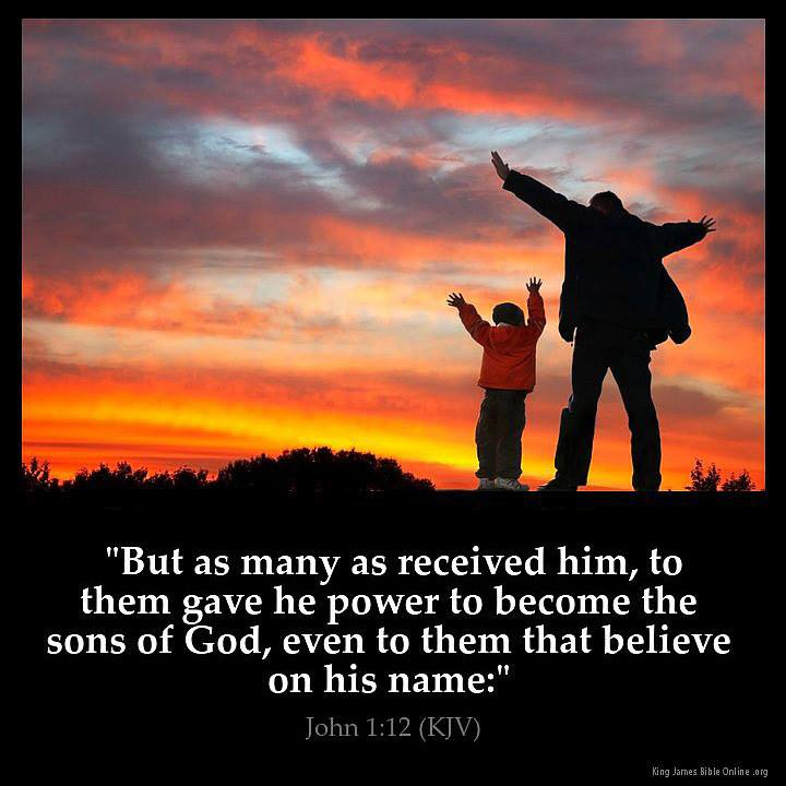 John 1:12 - He gave them the power to become sons of God