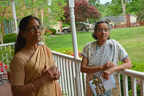 Annie Kochamma with Dr Shila Mathew at home in 2015 - MW Photo by Dr. Jacob Mathew