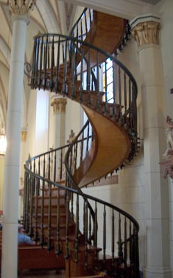 Mystery staircase at Loretto Chapel, Santa Fe, NM Photo by Dr. Jacob Mathew