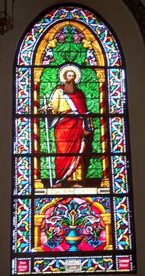 Stained Glass Art at Loretto Chapel, Santa Fe, NM Photo by Dr. Jacob Mathew