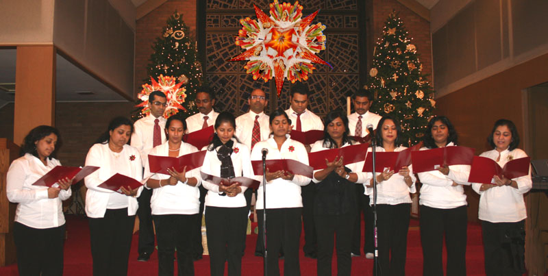 OMCC Choir at the Christmas Program, Columbus Ohio, Dec 16, 2012
