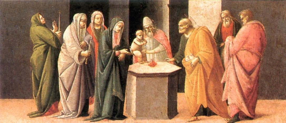 Predella - Presentation of Jesus in Temple by Bartolomeo di Giovanni