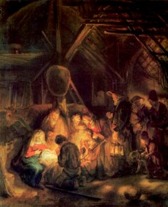 Rembrandt, Adoration of the Shepherds, 1646
