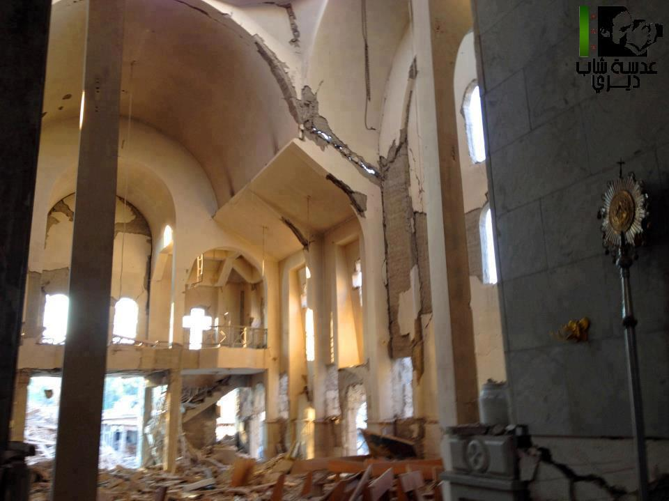 St. Mary's Church in Dair Al Zor, Syria destroyed