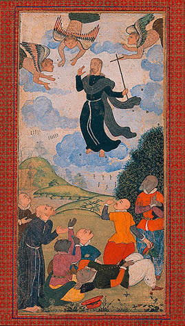 The ascension of Jesus in the guise of a priest-Mughal India