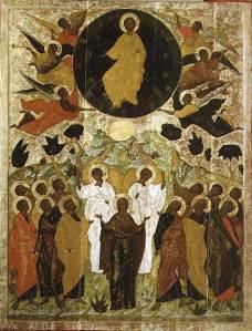 Ascension of Jesus - Russian Icon