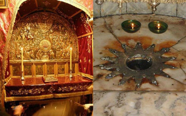 Place where Jesus was born in Bethlehem