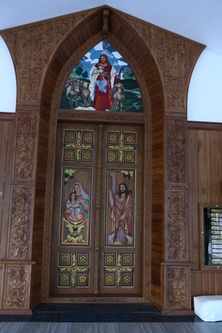 Entrance to newly re-dedicated St. Mary's Cheriapally, Pampady East, Kottayam