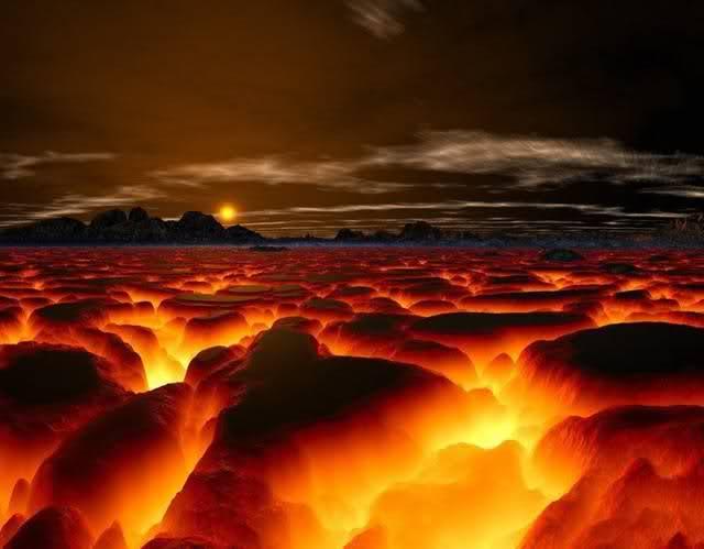 Firey Landscape