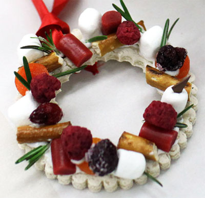 Holiday Wreath With Assorted Dry Fruits and Spices -finished