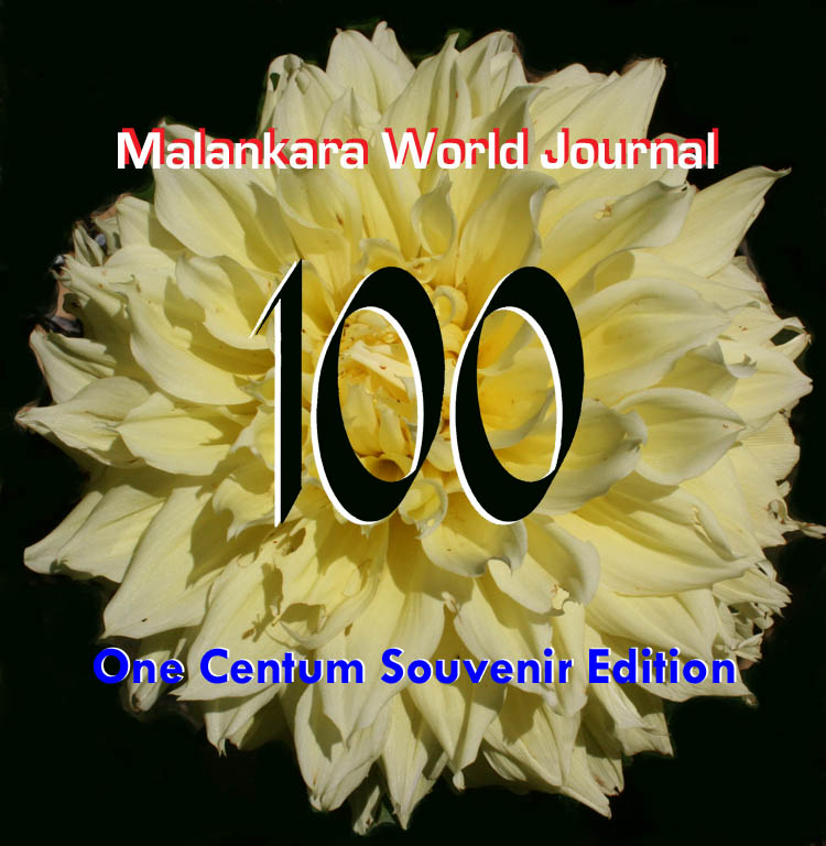 Malankara World Journal Cover-Issue 100
