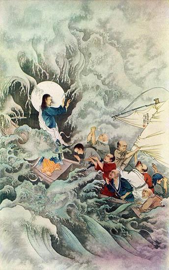Jesus Calming Sea - Chinese Version