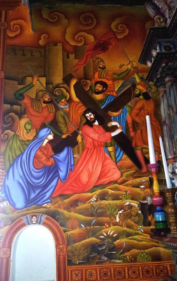 Murals at at the St. Mary's Valiya Pally (Knanya Church), Kottayam